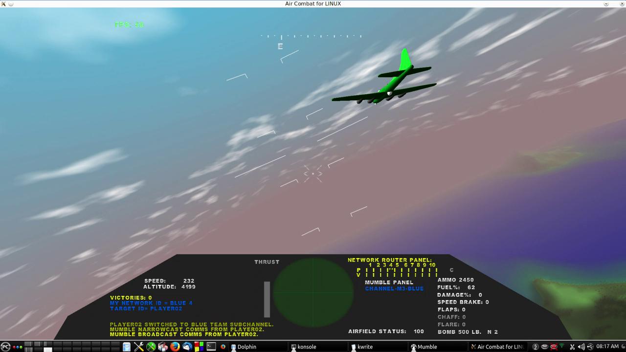 Linux Air Combat Screen Shot 1