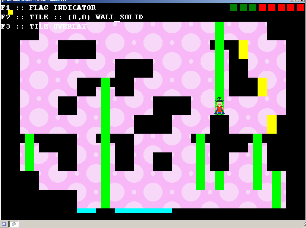 The very first draft of the game was going to be a puzzle platformer, inspired by the NES title Fire n' Ice.