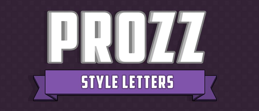 PROZZ Style Letters