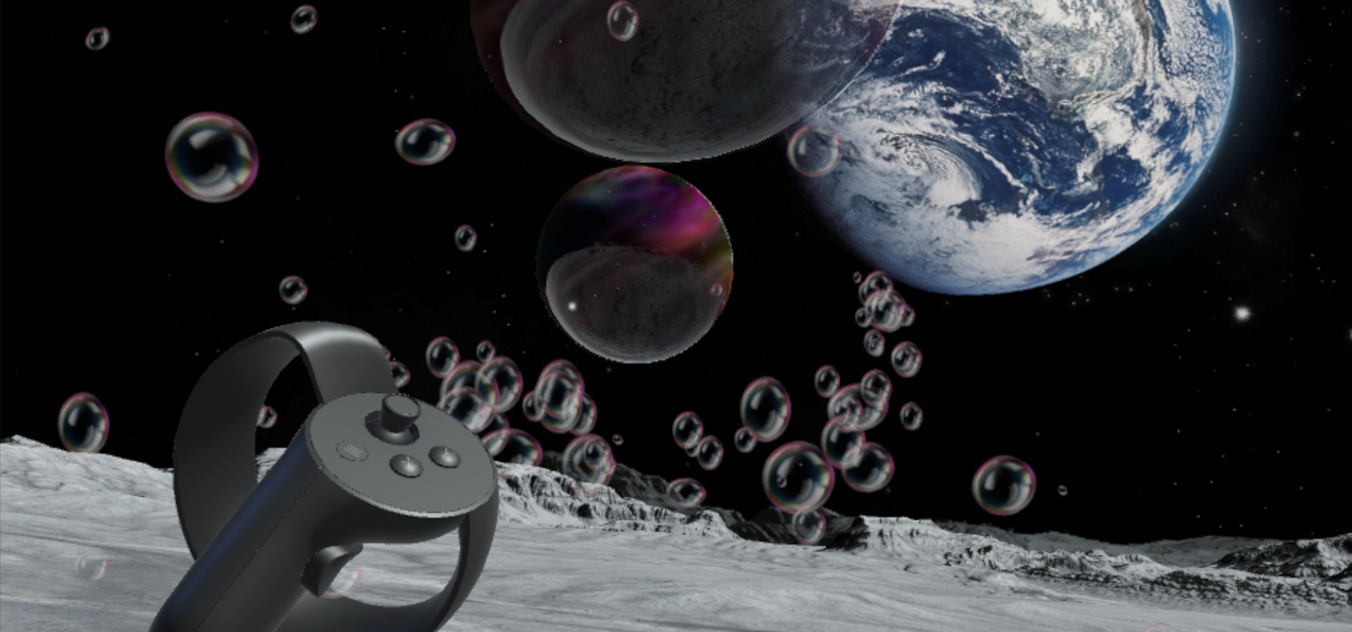 Bubbles on the Moon (SteamVR)