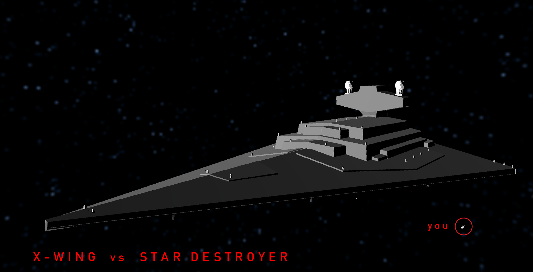 X-Wing vs Star Destroyer