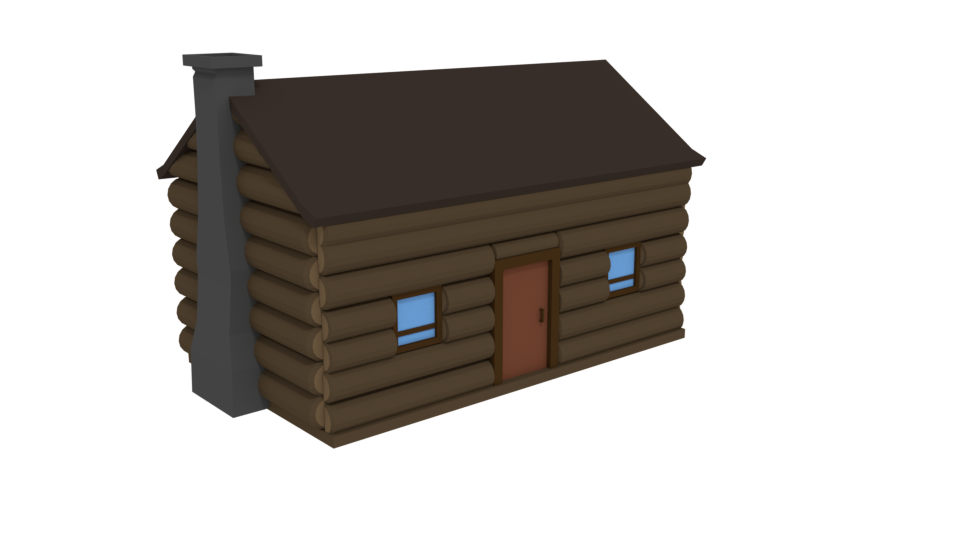 Low Poly Log Cabin