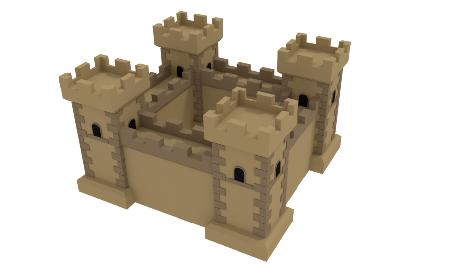 Low Poly Desert Castle
