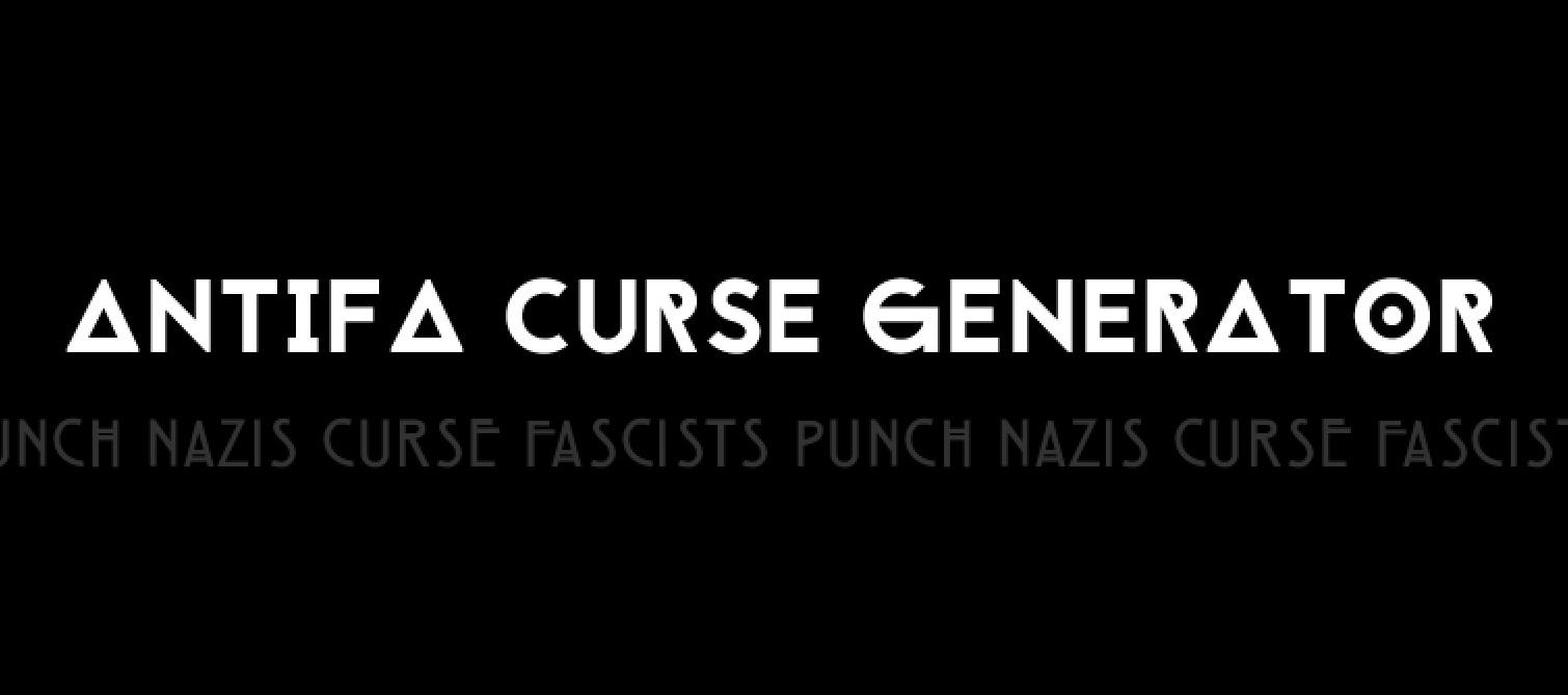 Antifa Curse Generator