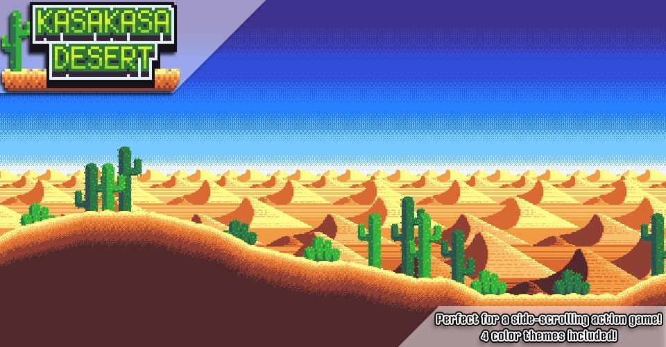 Kasakasa Desert - Pixel Art Tileset