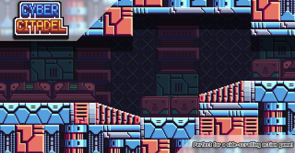 Cyber Citadel - Pixel Art Tileset