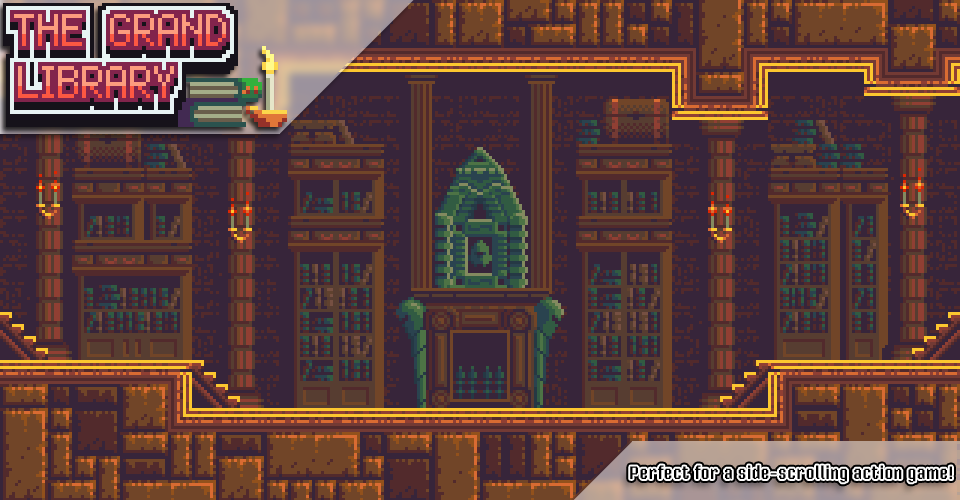 Grand Library - Pixel Art Tileset
