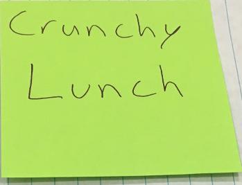 Crunchy Lunch