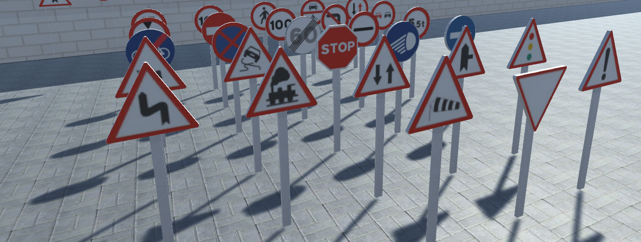 Unity City traffic signs