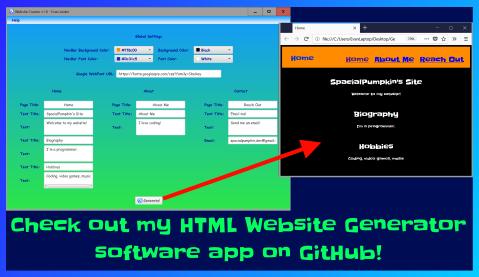 HTML Website Generator