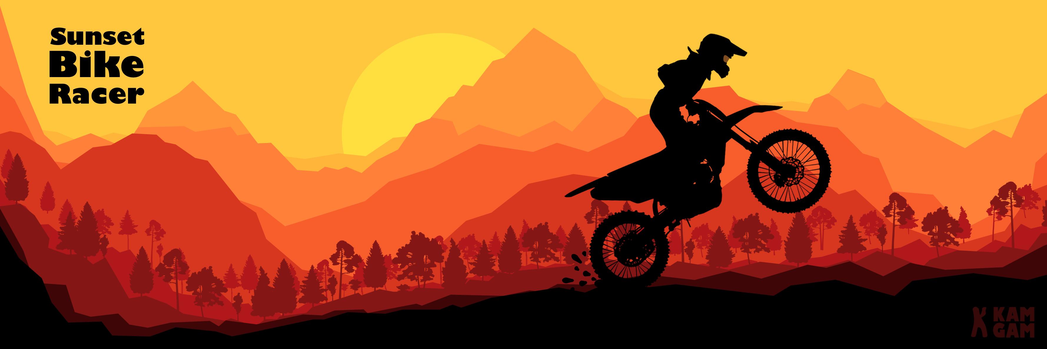 Sunset Bike Racer - 2D Motocross Racing