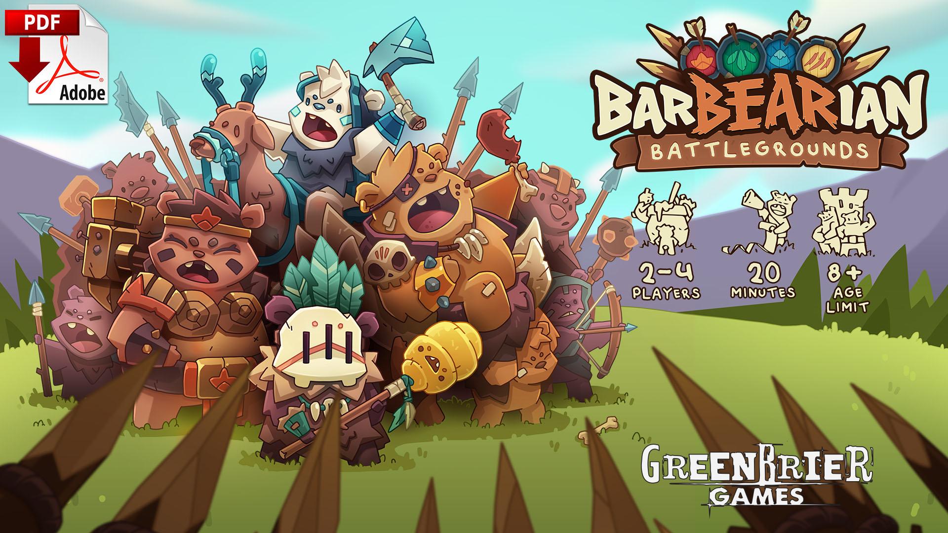 BarBEARians Battlegrounds (Print-&-Play) - BB02