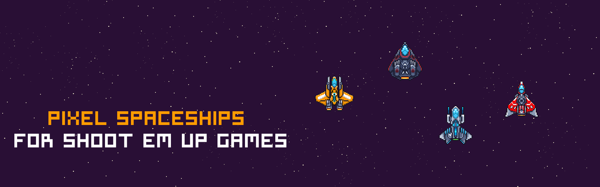 Pixel Art Spaceships for SHMUP
