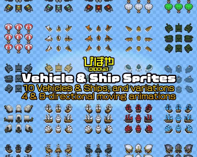 Vehicle & Ship Sprites
