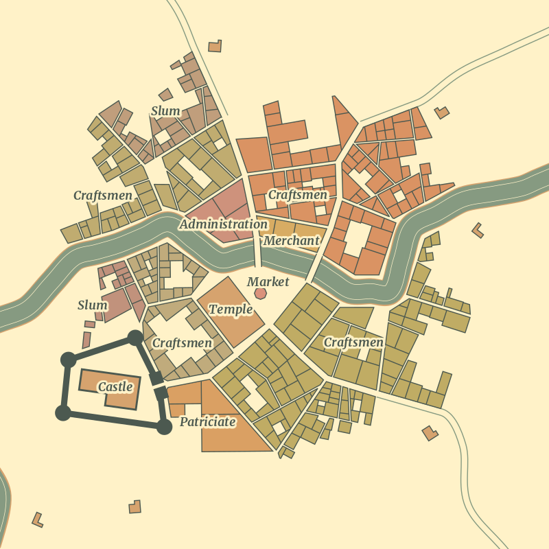 0 5 3: Neighbourhoods, alleys and buildings - Medieval