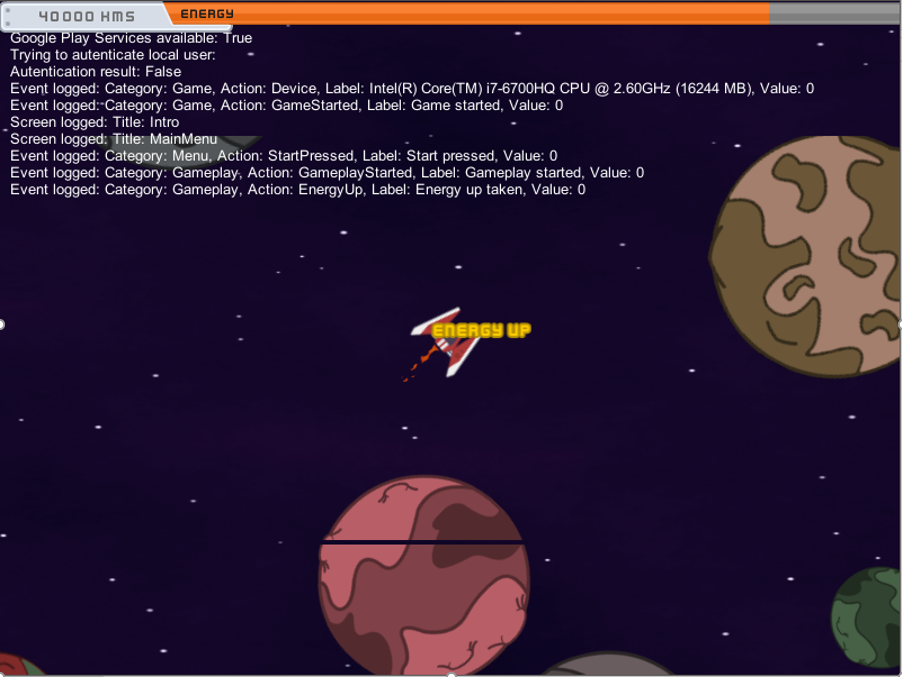 Screenshot of gameplay of the initial prototype