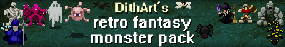 DithArt's retro fantasy monster pack