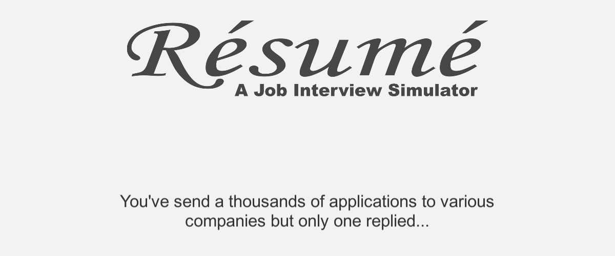Résumé: A Job Interview Simulator