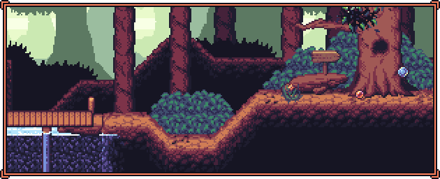 Pixel Art - Forest Side-Scroller Tileset
