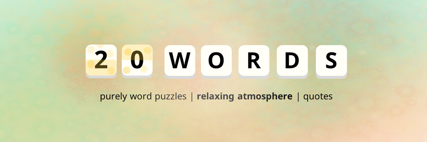 20Words - Word Search Puzzle