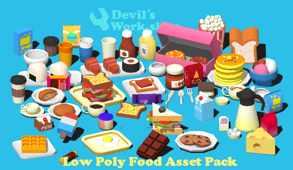 Low Poly Food Asset Pack