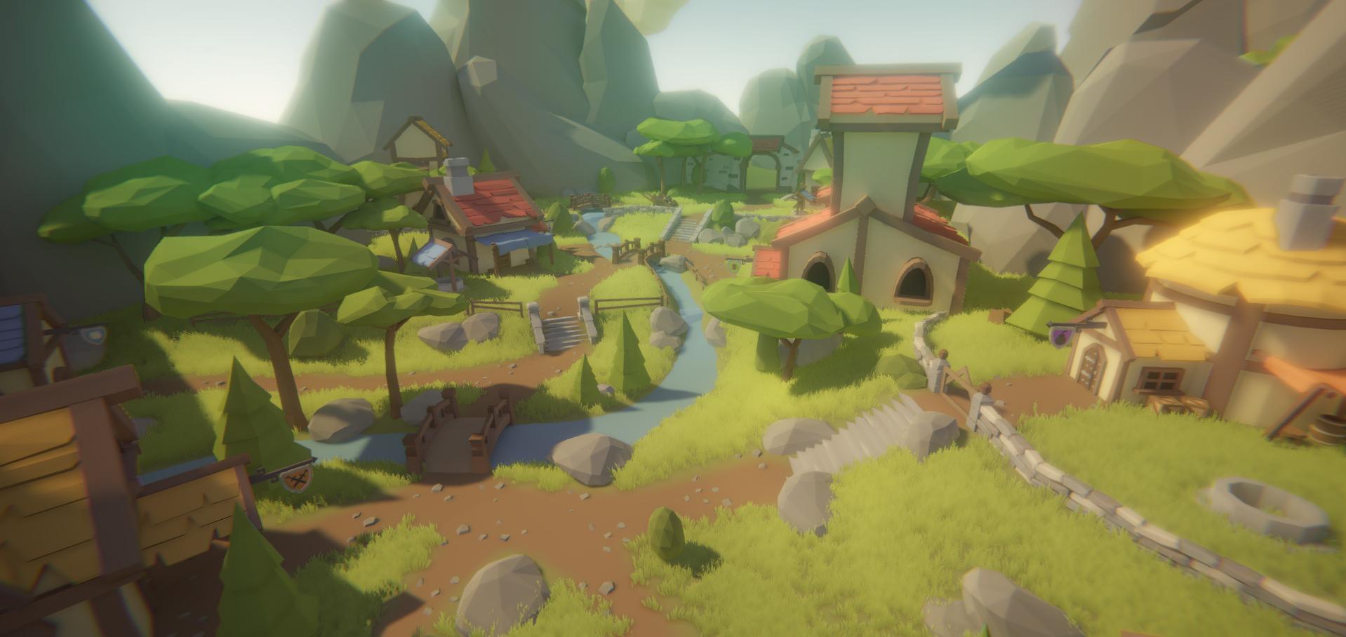 Polyscape Fantasy World A Large Modular Stylized Low
