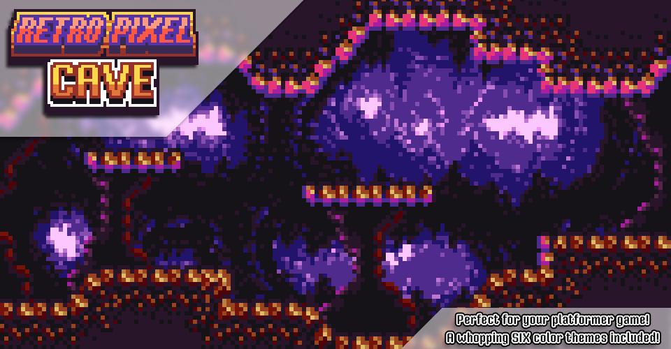Retro Pixel Cave