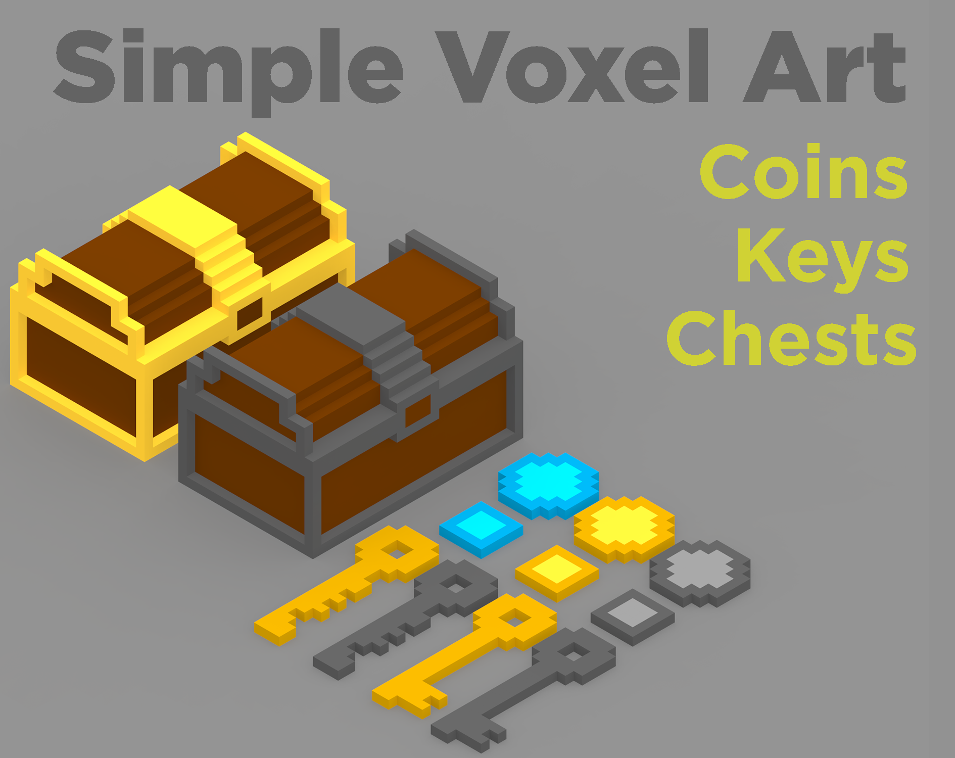 Simple Voxel Art Coins & more