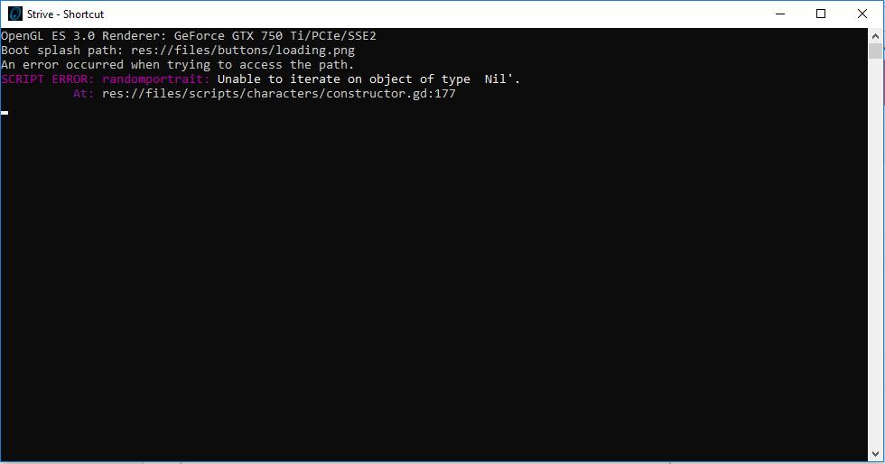 Script error running game - Strive for Power community - itch io