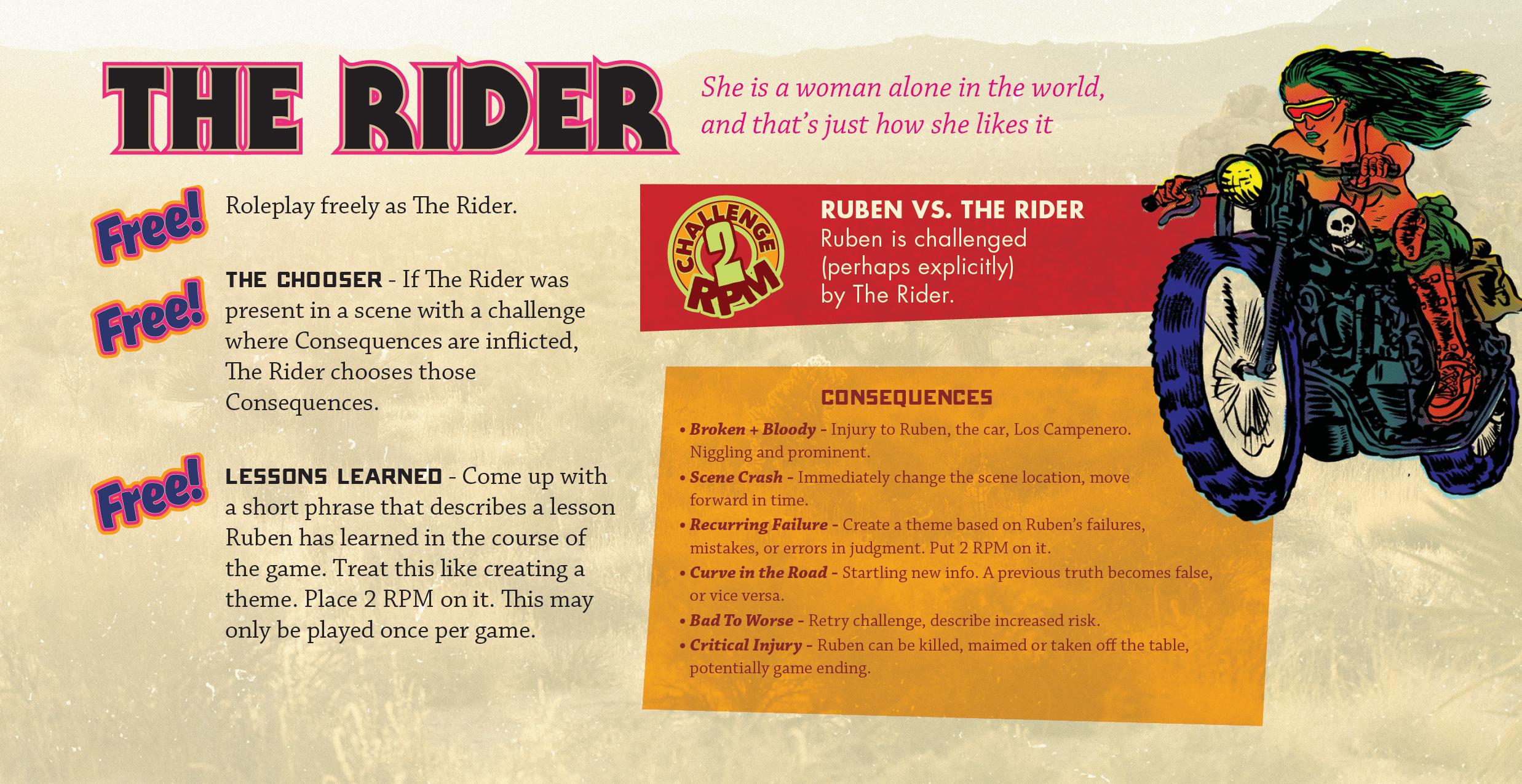 The Rider Role