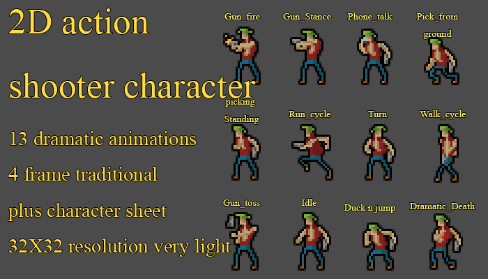Action character pack