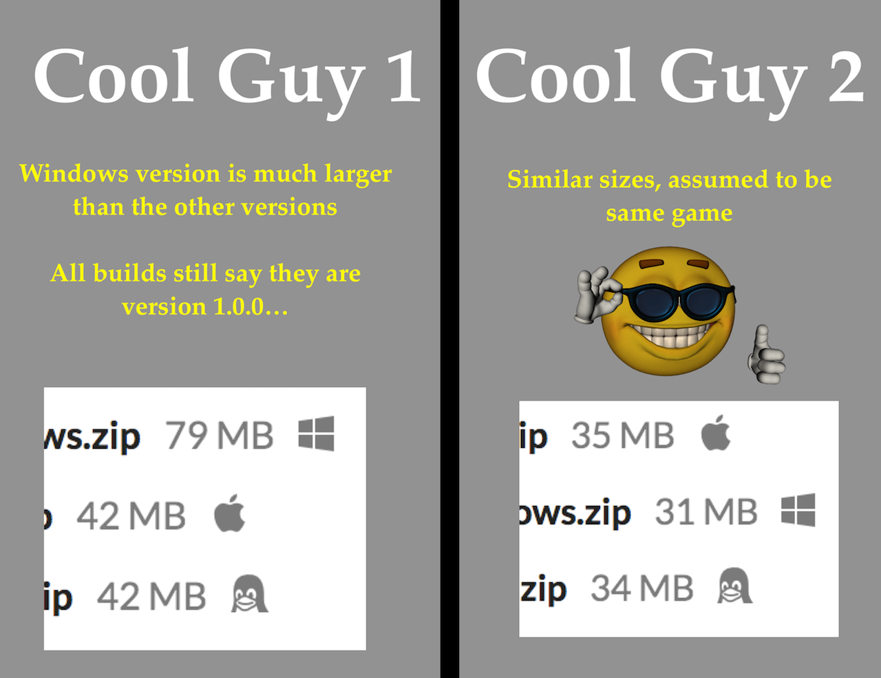 Cool Guy Size Differences