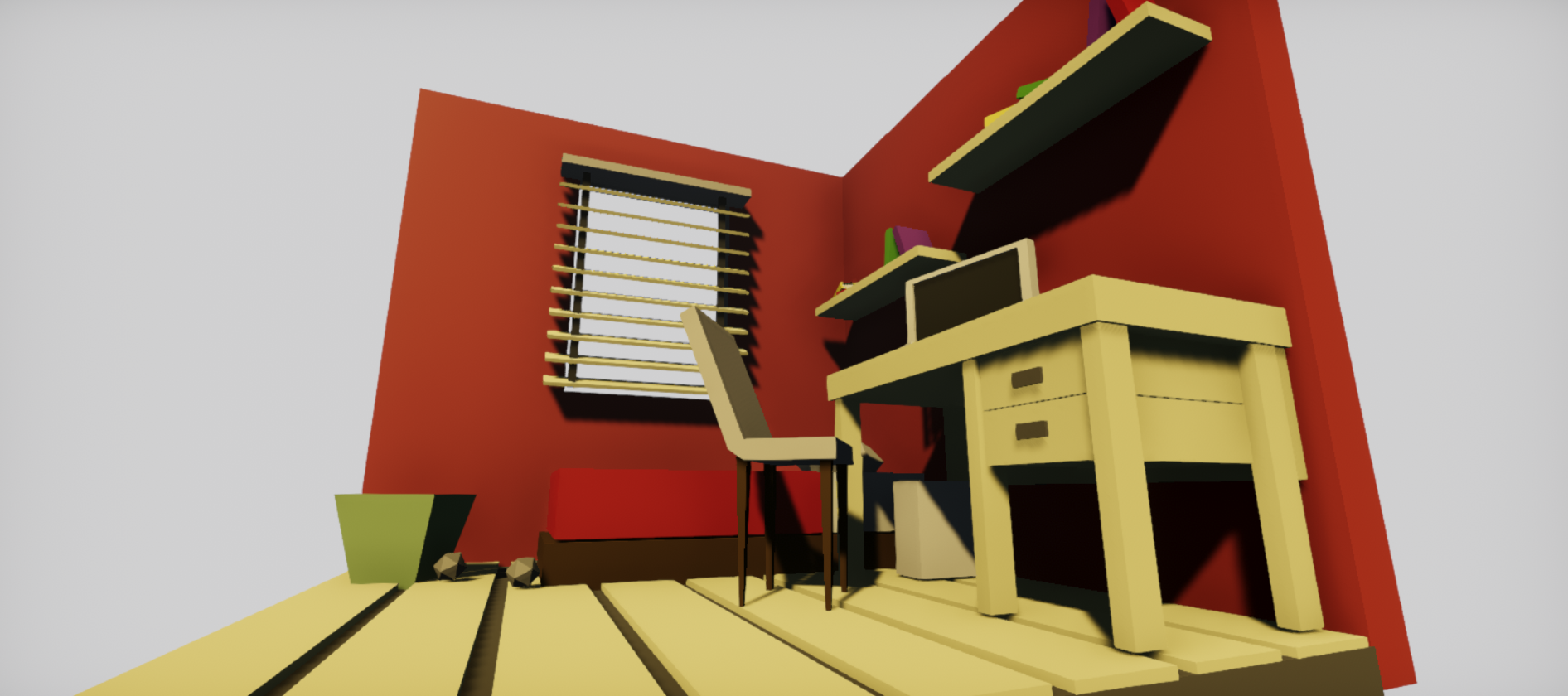 Low Poly Bed Room Interiors