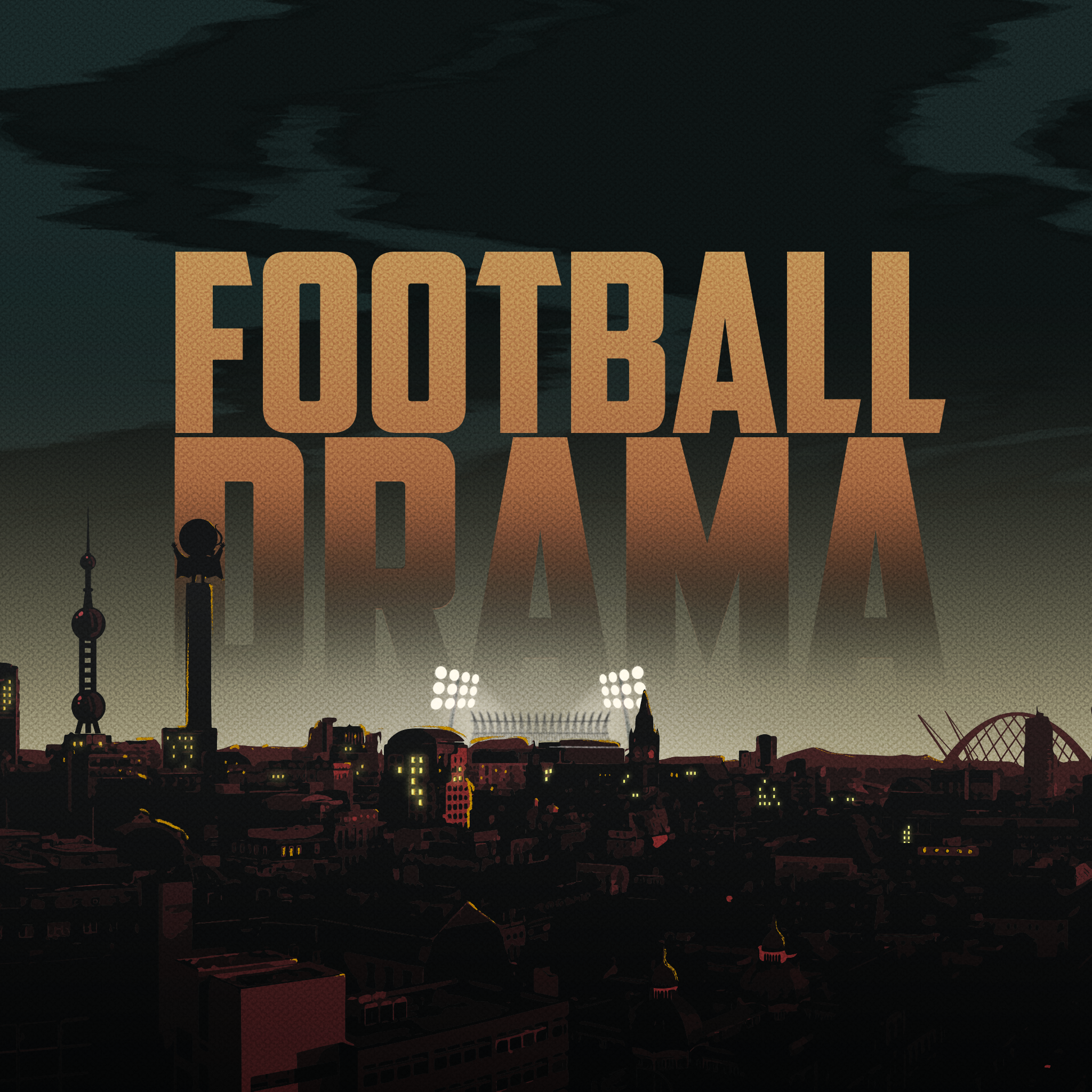 Football Drama poster with town