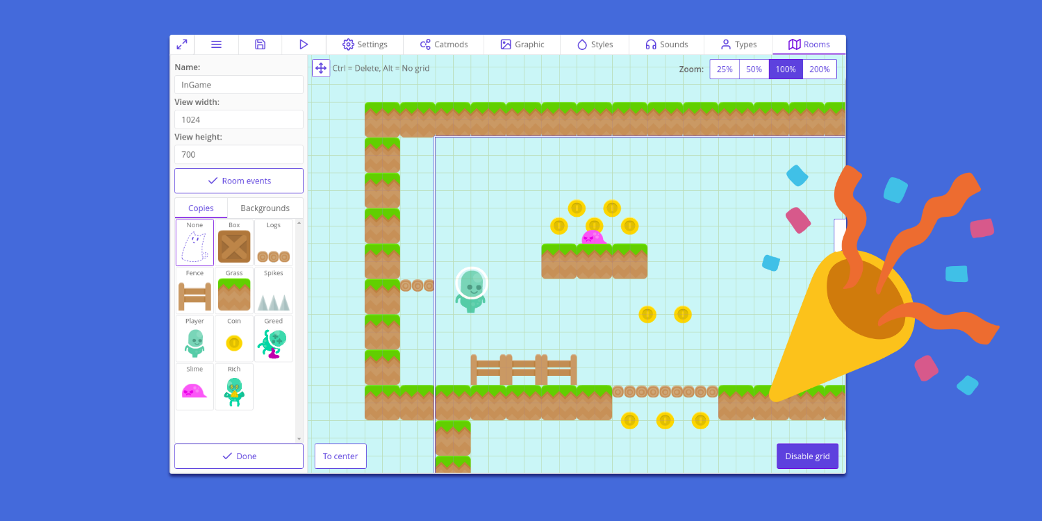 Ct Js A Free 2d Game Editor Release Announcements Itch Io