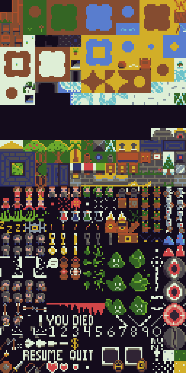 RPG 8x8 Tileset and sprites