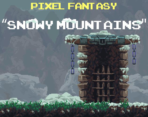 Pixel Fantasy Snowy Mountains