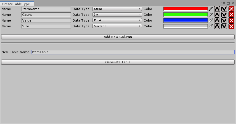 Version 2 0 - Simple Data Tables (Unity Asset / Editor