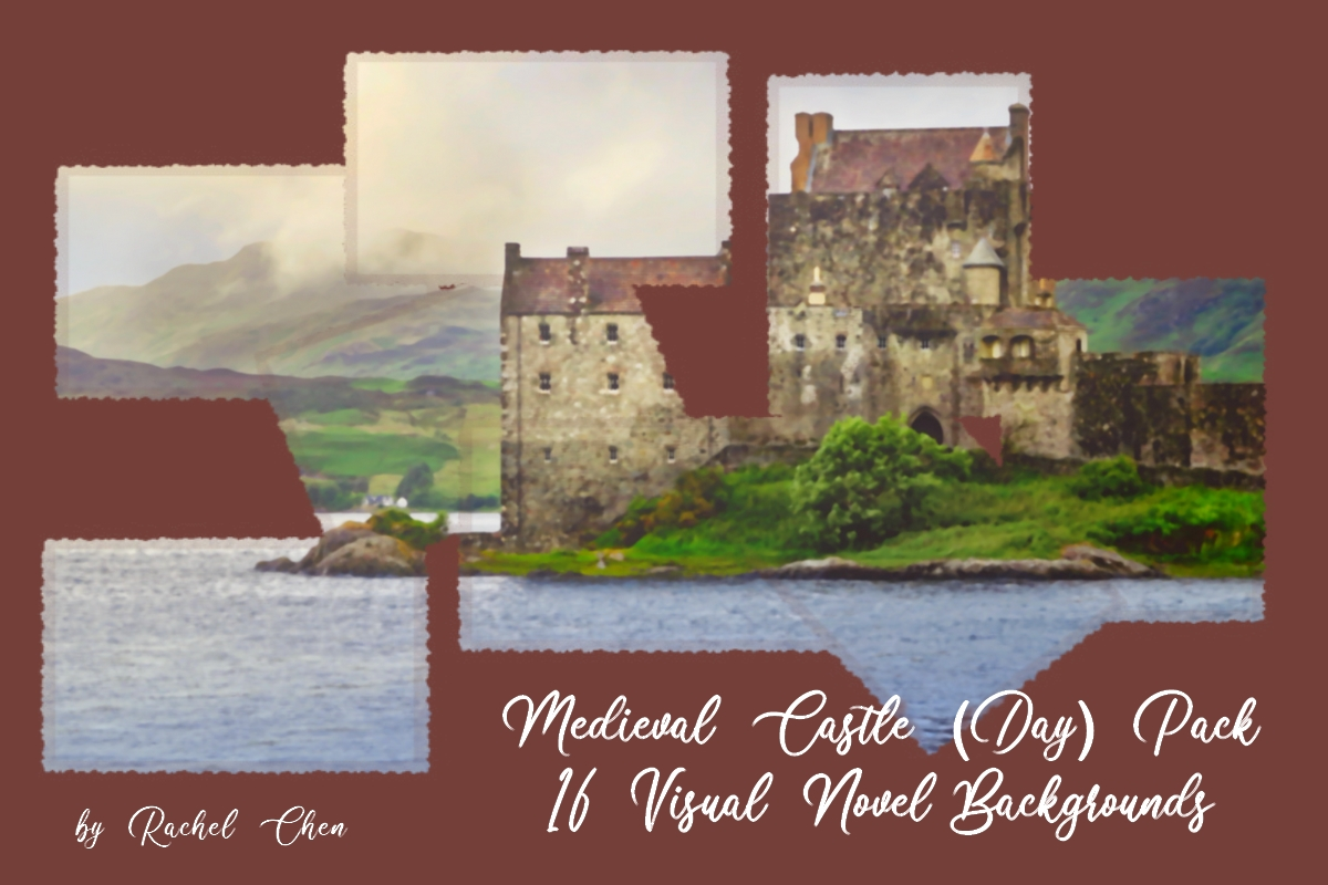 Medieval Castle (Day) Pack: 16 Visual Novel Backgrounds