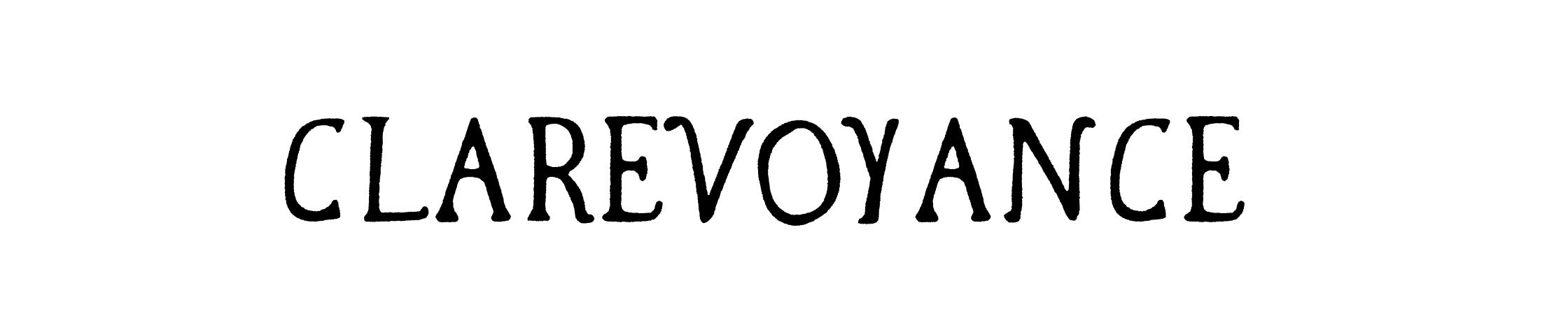 Clarevoyance