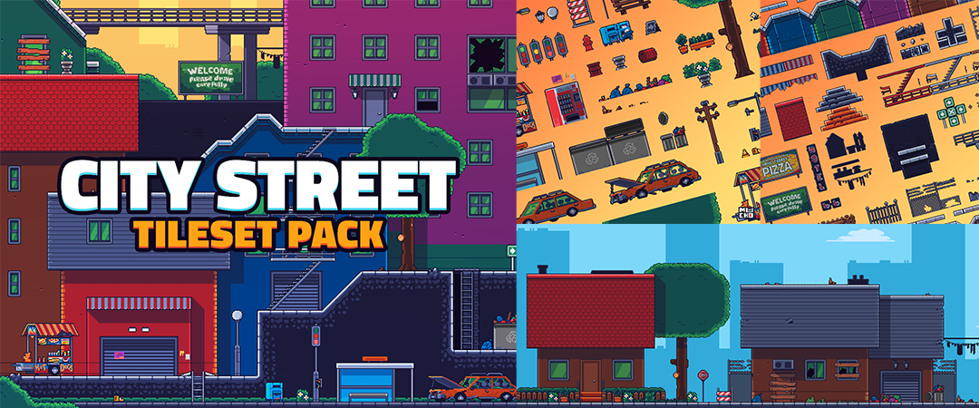 City Street Tileset Pack by MuchoPixels