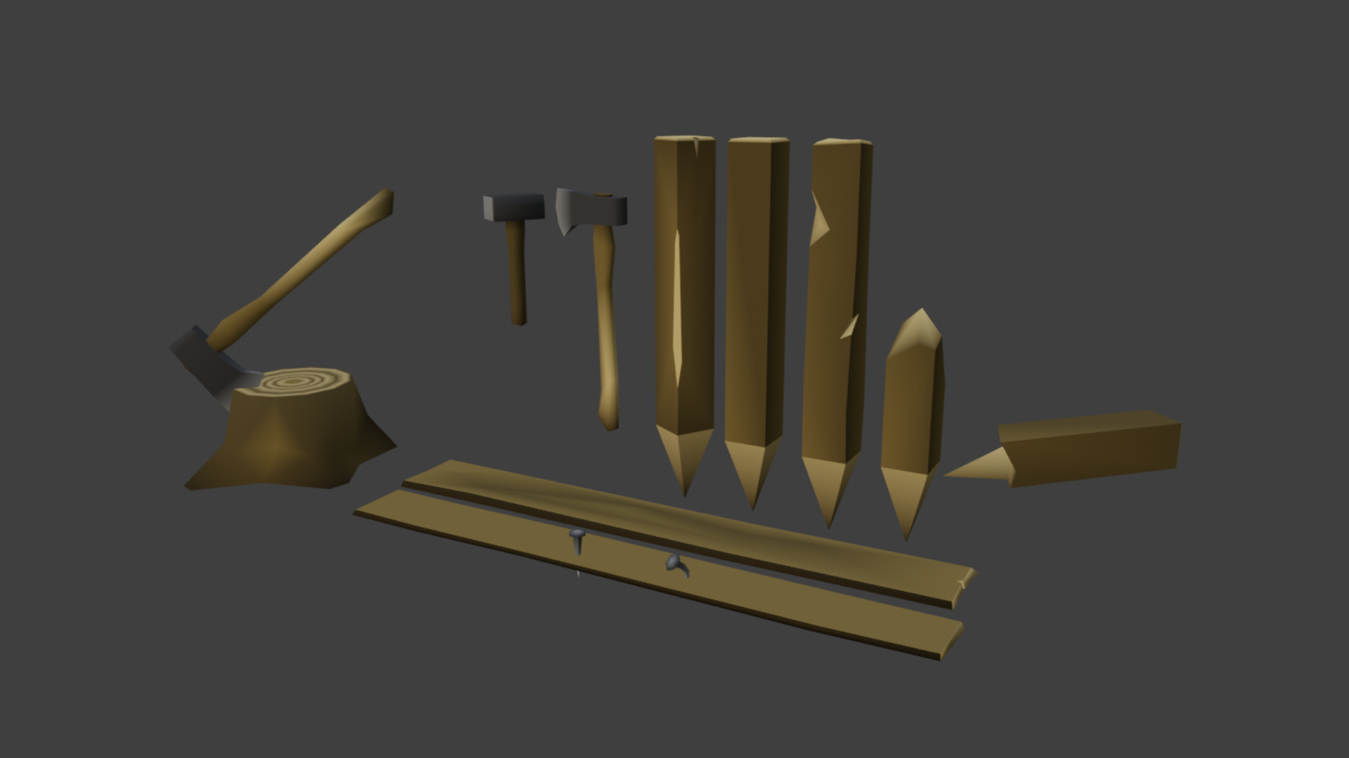 Free Assets] 3D Low Poly Models - Release Announcements