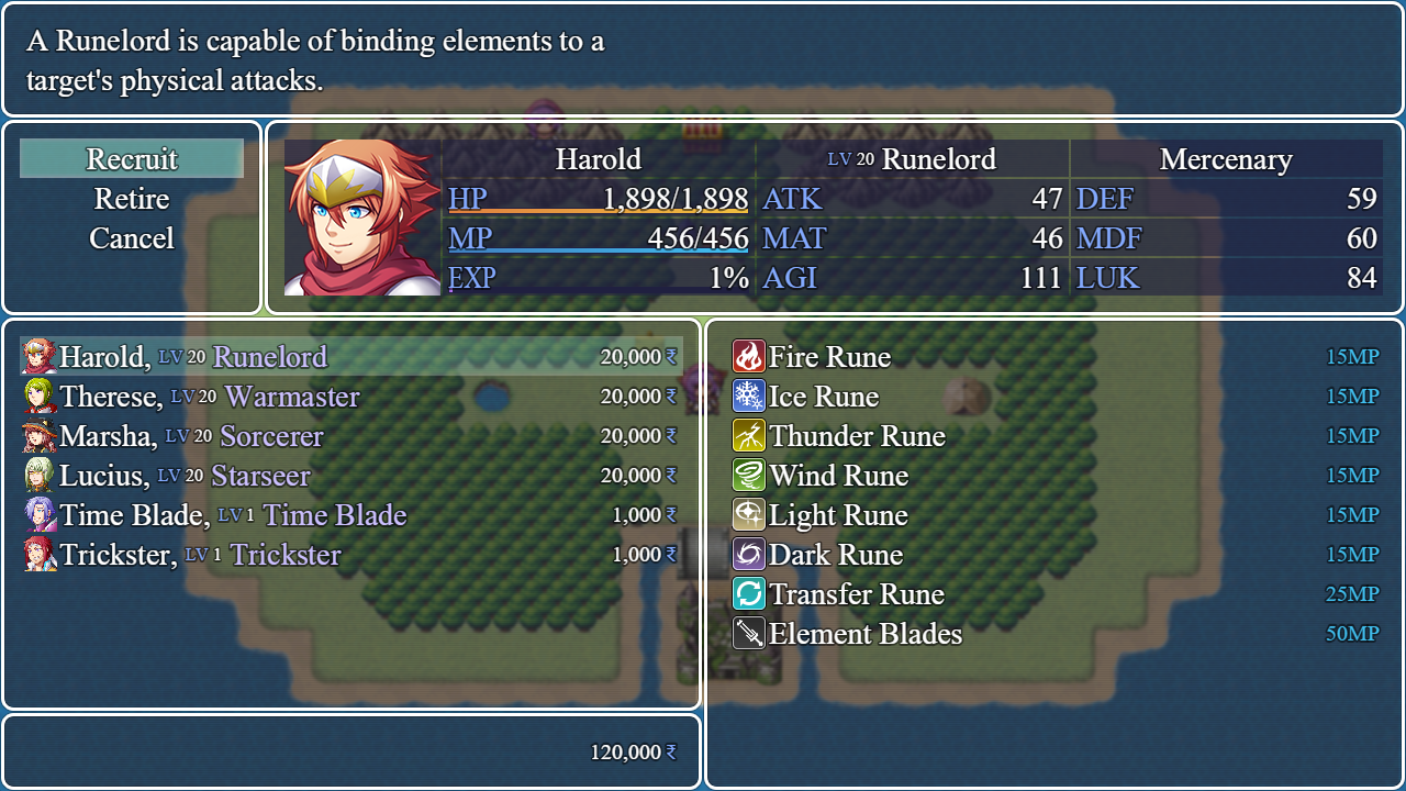 Recruiting Board plugin for RPG Maker MV by Irina