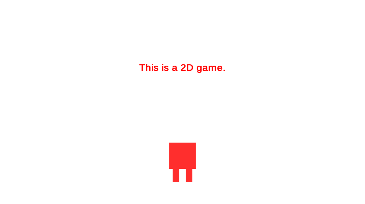 This is a 2D game