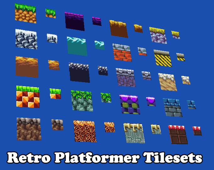 Retro Platformer Tilesets