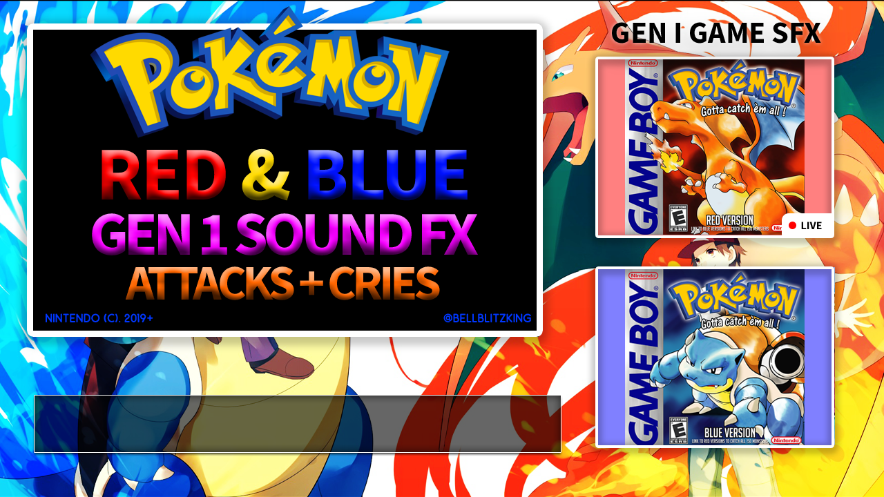 Pokemon Gen 1 to 5 Sound Effects Collection Pack! - Release