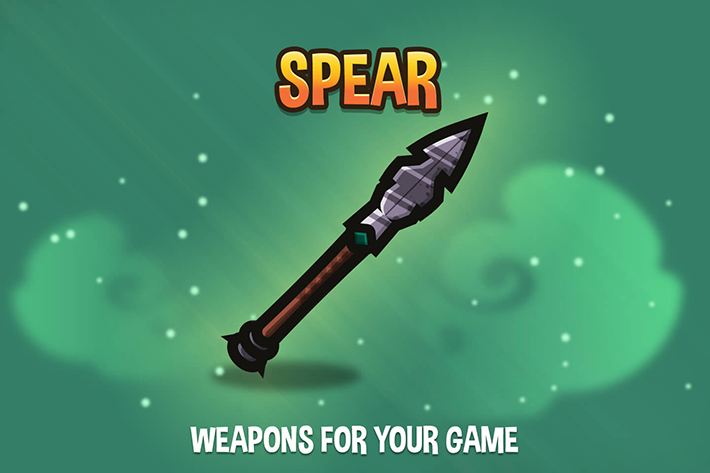 Spear 2D Weapons by Free Game Assets (GUI, Sprite, Tilesets)