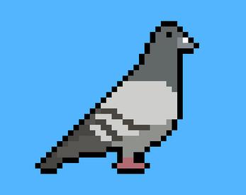 Pixel Art Pigeon By Noktis