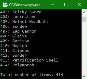 414 items!