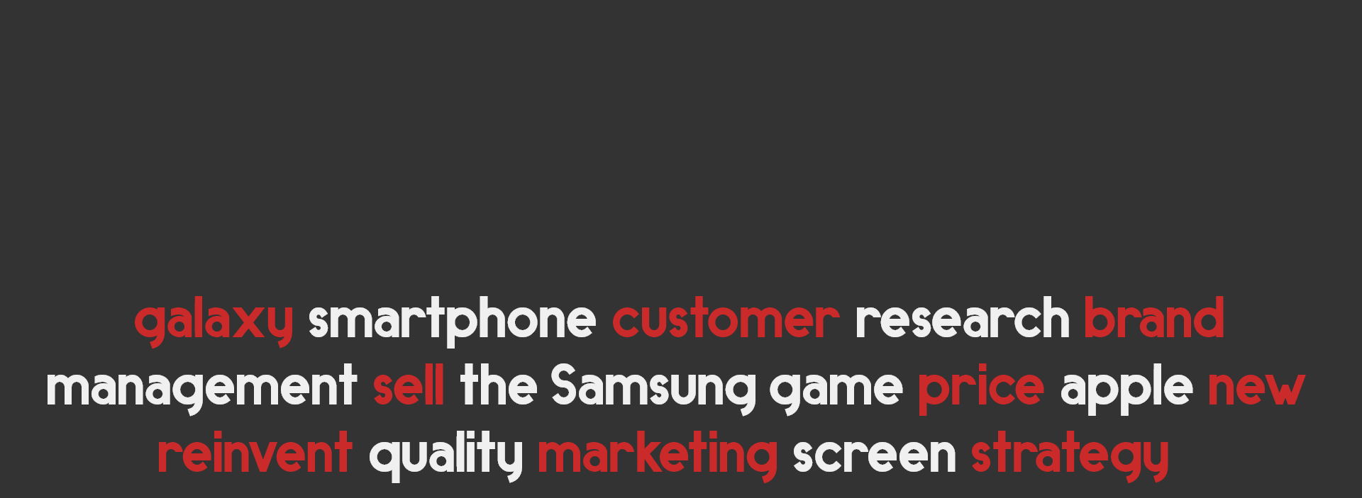 The Samsung Game